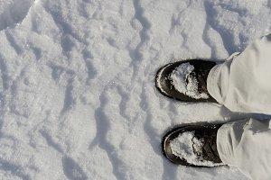 snowy alpine boots
