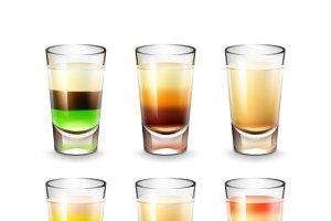Set of alcoholic shots