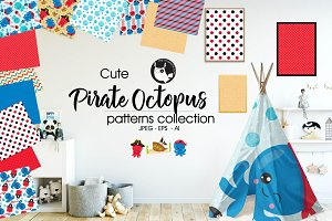 PIRATE OCTOPUS Pattern collection