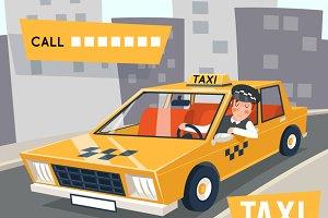 Cab taxi driver