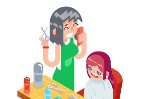 Hairdresser character