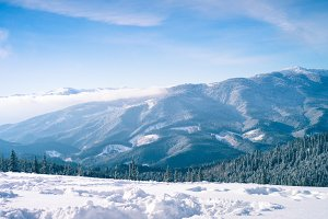 Winter Nature snowy mountains