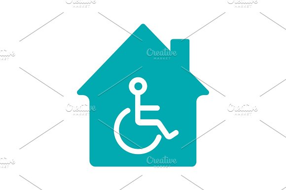 House With Special Facilities Glyph Color Icon