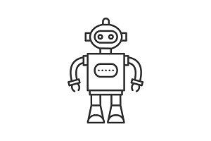 Robot linear icon