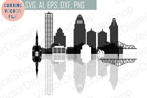 Louisville Skyline Vector Ai Svg Eps