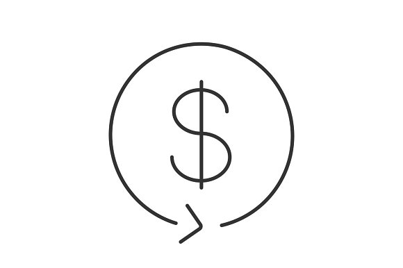 Dollar Exchange Linear Icon