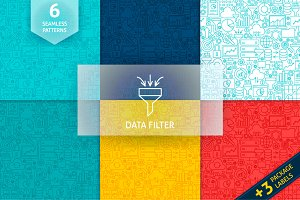 Data Filter Line Tile Patterns
