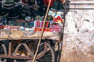 Parked Vendor Cart