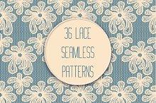 Set of 36 Lace Seamless Patterns