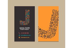 Letter J Logo Business card