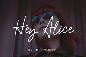 Hey Alice Font Duo
