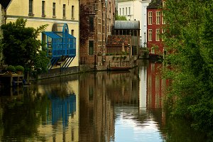 River Cityscape in Ghent