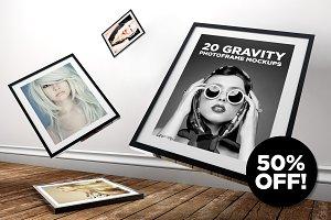 20 Gravity Photo Frame Mockups