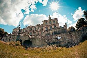 Bright sun shines over the castle