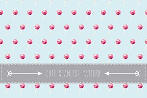 Cute lolipop seamless pattern