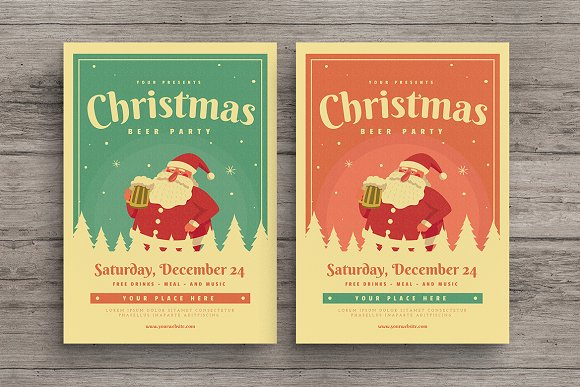 Christmas Beer Event Party Flyer