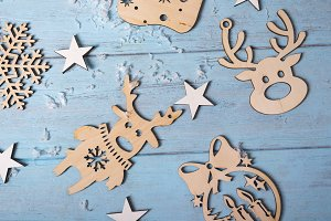 Christmas wooden hanging toys