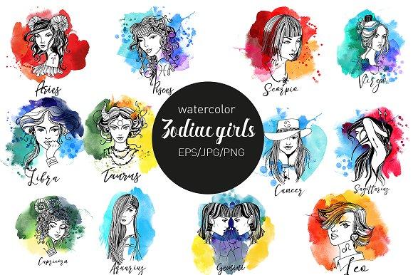 Zodiac Girls Illustrations Creative Market