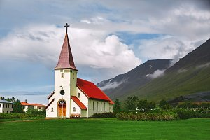 the Church in the small town of Iceland