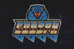 Coubra Font - 80s style!
