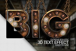 Extreme Realistic 3D Texteffect Vol1