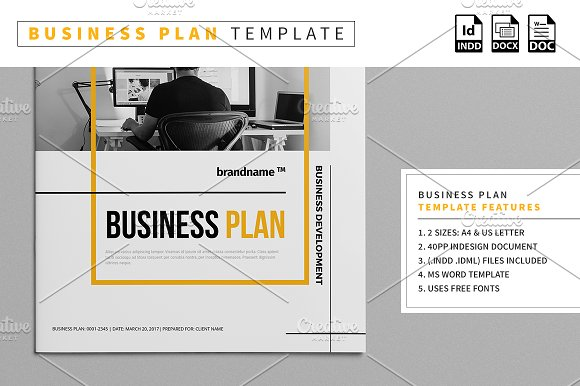 Business plan template stationery templates creative market business plan template stationery wajeb Gallery