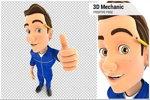 3D Mechanic Positive Pose