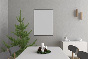 Christmas interior - art mockup