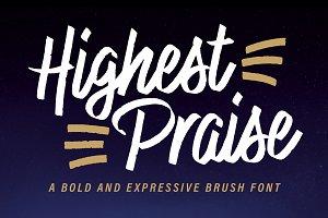 Highest Praise Font - 25% Off