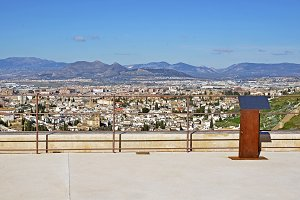 viewpoint to the city of Granada