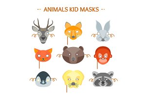 Animals Party Mask Set