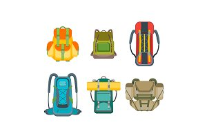 Tourist Camping Backpack Set