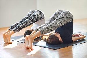 Two women doing yoga asana