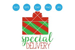 Special Delivery SVG Baby Christmas