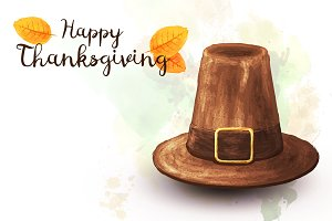 Pilgrim hat on thanksgiving holiday
