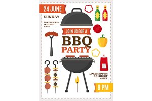 Barbecue and Grill Party Poster