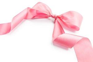 shiny pink satin holiday ribbon