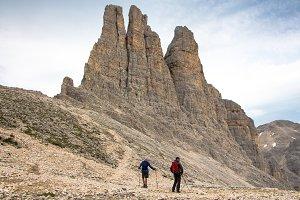 Backpacker hikers