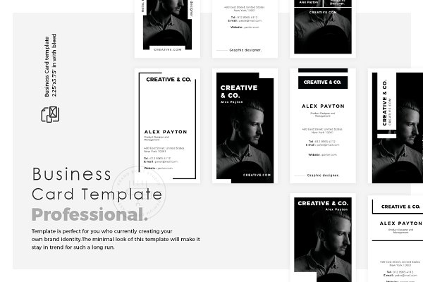 Business Card Templates: brandbuilt - Professional look Business Card Pack