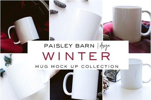 Winter Mug Mock Up Collection
