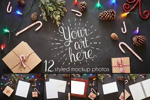Candy Cane Lane Mockup Photo Bundle