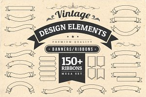Vintage Design Elements - Ribbons