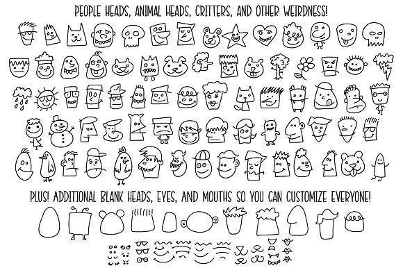 Kookyheads - a dingbat doodle font!