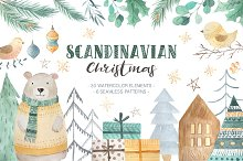 Scandinavian Watercolor Christmas