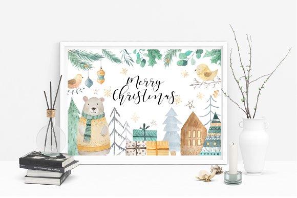 f28a78981b99 Scandinavian Watercolor Christmas
