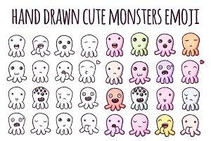 Little Monsters emoji stickers set.