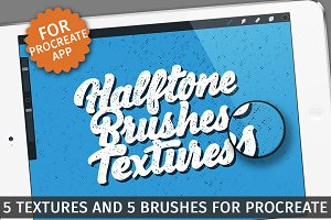 Halftone Textures/Brushes -Procreate