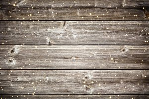 wooden planks with sparkles