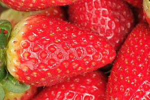 Strawberries macro shot