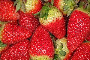 Strawberries closeup shot